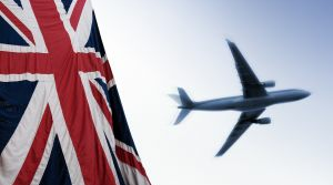 British relocation flag and plane